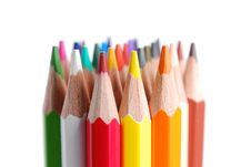 Free Colored Pencils Tips Stock Photography - 20445142