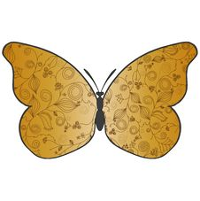 Free Abstract Beautiful Butterfly With A Flower Pat Stock Image - 20445461