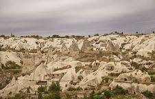 Goreme Cappadocia Panorama Under Clouds Stock Photos