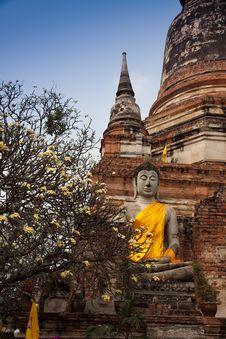 Wat Yai Chaimongkol Stock Photo