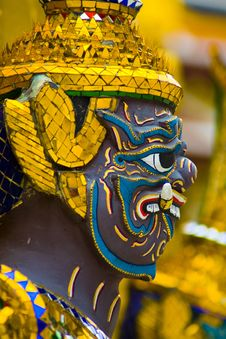 Free Face Of Garuda Sculpture Stock Photo - 20446480
