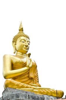 Free Gold Buddha Statue Good Life Stock Photos - 20446613