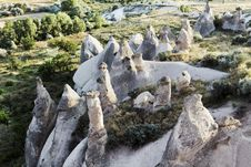 Free Early Morning Aerial Of Fairy Chimneys Royalty Free Stock Photos - 20446718