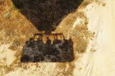 Free Hot Air Balloon Shadow Or Dry Arid Earth Stock Photography - 20446782