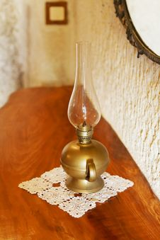 Metalic Effect  Oil Fired Lantern Royalty Free Stock Photo