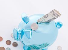 Free Blue Bank And Money Stock Photo - 20447050