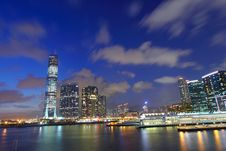 Free Hong Kong Skyline At Dusk Royalty Free Stock Photography - 20447097