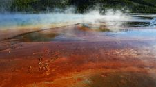 Yellowstone: Grand Prismatic Steam Rising Royalty Free Stock Images