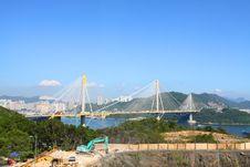 Free Ting Kau Bridge In Hong Kong At Day Royalty Free Stock Images - 20447219