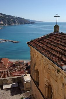 A View From Menton Cimetery Stock Images