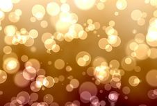 Free Golden Bokeh Royalty Free Stock Photos - 20447318