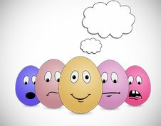 Free Egg Thinking In Bubble Royalty Free Stock Images - 20447479