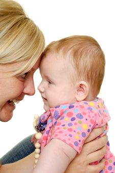 Free Mother And Baby Are Smiling Stock Photo - 20447920