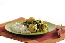 Free Traditional Indian Dish - Saag Aloo Royalty Free Stock Photos - 20448068