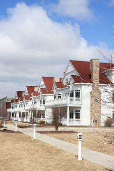 Free Row Of White Town Houses Royalty Free Stock Photography - 20448307