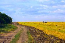 Free Rural Road At Harvest Stock Image - 20448531