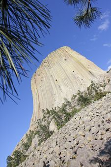 Free Devils Tower National Monument In Wyoming Royalty Free Stock Photo - 20448585