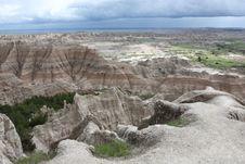 Free View Of Badlands National Park In Sout Dakota Stock Image - 20448601