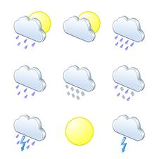 Free Weather Icons 3D Royalty Free Stock Images - 20448659