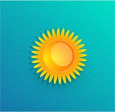 Free Yellow Sun Vector Background Stock Photography - 20449032
