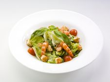 Free Fresh Salad With Shrimp Royalty Free Stock Photos - 20449048