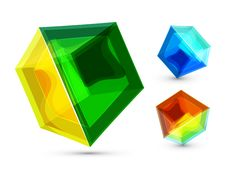 Free Vector Glass Cube Background Royalty Free Stock Photos - 20449418