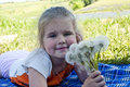 Free The Girl With Dandelions Stock Images - 20458084