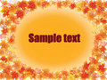 Free Autumn Leaves Frame From Text. Vector Illustration Royalty Free Stock Images - 20458179