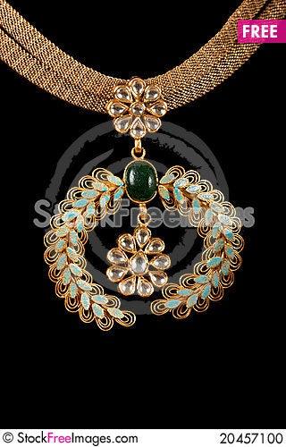Close up of diamond necklace Stock Photo