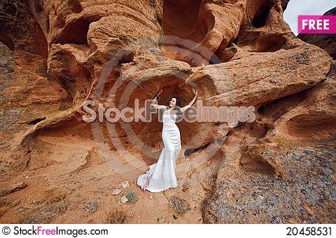Free Girl On The Mountain Stock Image - 20458531