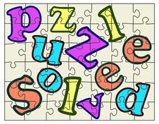 Free Puzzle Solved Royalty Free Stock Image - 20450346