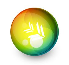 Abstract  Sphere Button Royalty Free Stock Photos