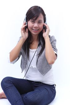 Women Listening A Song Stock Photography