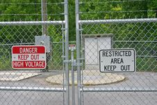 Free Keep Out Signs Royalty Free Stock Photography - 20452297