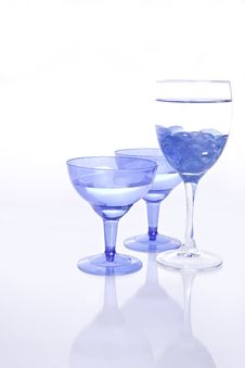 Free Blue Wine Glasses Royalty Free Stock Photo - 20453295