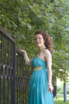 Free Extraordinarily Beautiful Girl In A Blue Dress Stock Photography - 20454632
