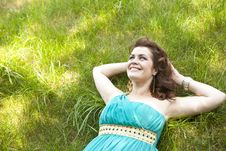 Free Extraordinarily Beautiful Girl In A Blue Dress Royalty Free Stock Images - 20454789