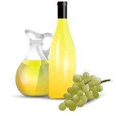 Free White Wine Boottle And Grape Stock Photo - 20456090