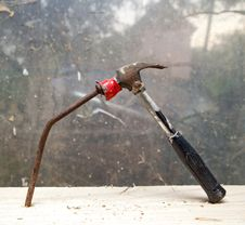 Free Hammer And Nail Stock Photo - 20456220