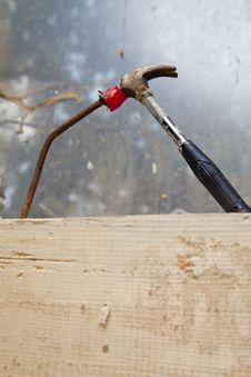 Free Hammer And Nail Stock Photography - 20456252