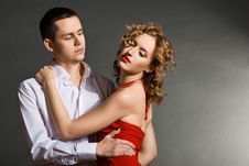 Free Young Handsome Couple In Elegant Evening Dresses Stock Photos - 20456283