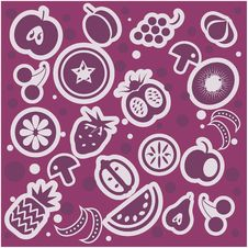 Free Fruit And Vegetables Pattern Stock Images - 20456474