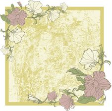 Free Vector Vintage Frame With Flowers Royalty Free Stock Photo - 20457965