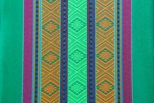 Free Beautiful Art Design On The Thai Silk Stock Image - 20458091