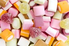 Free Background Of Dolly Mixture Sweets Royalty Free Stock Images - 20458449