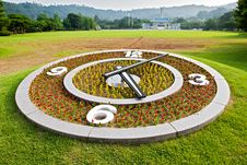 Free Flower Clock On Lawn Background Royalty Free Stock Photography - 20459547