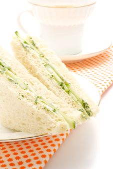 Sandwich With Cucumber Stock Photography