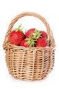 Free Fresh Strawberry On Basket Royalty Free Stock Photos - 20461788