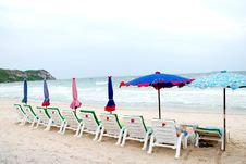 Free Sun Beach Chairs Royalty Free Stock Photo - 20460105