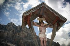 Val Badia Dolomites Royalty Free Stock Photo